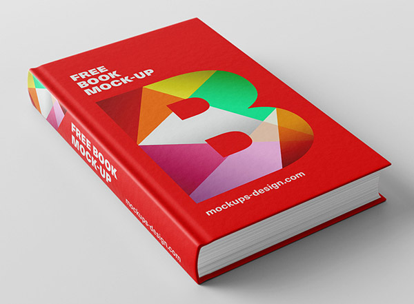 Mockup book hard cover 3d