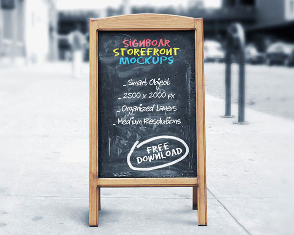 signboard-chalkboard-mock-ups