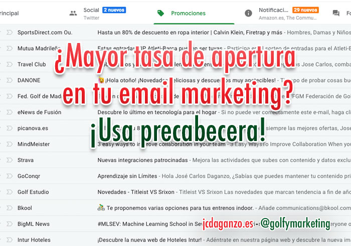 Precabecera email marketing
