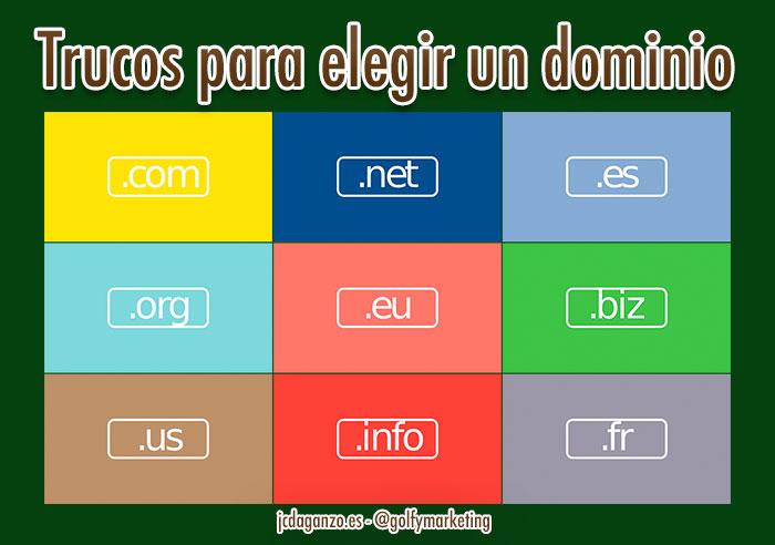 Trucos elegir dominio web